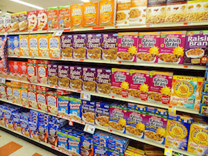 Refined Food cereal isle